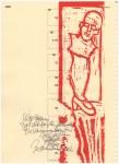 Zusammenbruch - Zusammenhang, Druck 1 (c) Linolschnitt von Susanne Haun