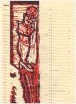 Zusammenbruch - Zusammenhang, Druck 3 ( (c) Linolschnitt von Susanne Haun