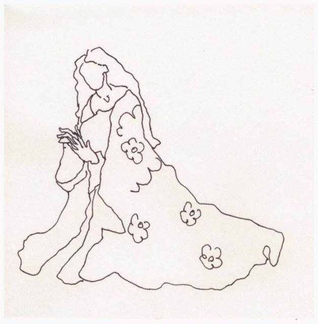 Maria durch die Jahrhunderte (c) Zeichnung von Susanne Haun