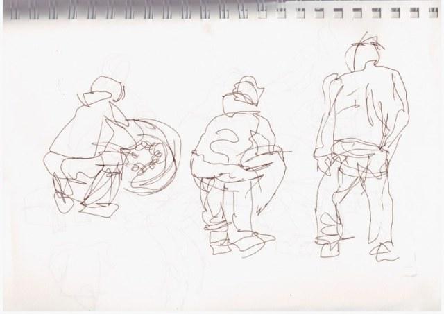 Reifenwechsel (c) Skizze von Susanne Haun