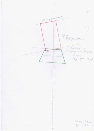 Konstruktion der perfekten Proportion nach Dürer (c) Zeichnung von Susanne Haun