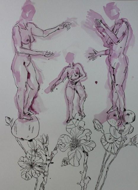 Das Urteil des Paris - Version 1 - Zeichnung von Susanne Haun