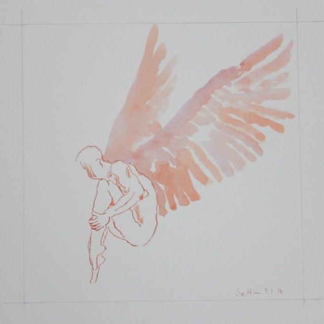 Der Traum vom Fliegen - Ikarus (c) Zeichnung von Susanne Haun