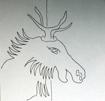 Entdeckungen bei Adam und Eva im Paradies (c) Zeichnung von Susanne Haun