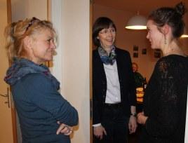 KunstSalon am Dienstag bei Susanne Haun - Gast Joyce Ann Syhre - Diskussionen zum Thema (c) Foto von Susanne Haun