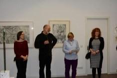 Nina, Thomas, Anja, Susanne bei der Ausstellungseröffnung Green Hill Galery (c) Foto von M.Fanke