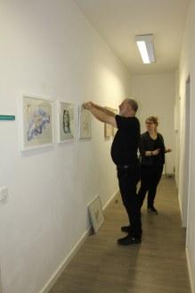 Hängen Ausstellung Im Rausch der Freiheit in der Green Hill Galery (c) Foto von Susanne Haun