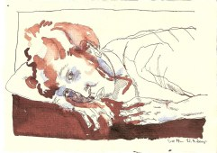 Innere Vergänglichkeit - 15 x 20 cm - Tusche auf Bütten (c) Zeichnung von Susanne Haun