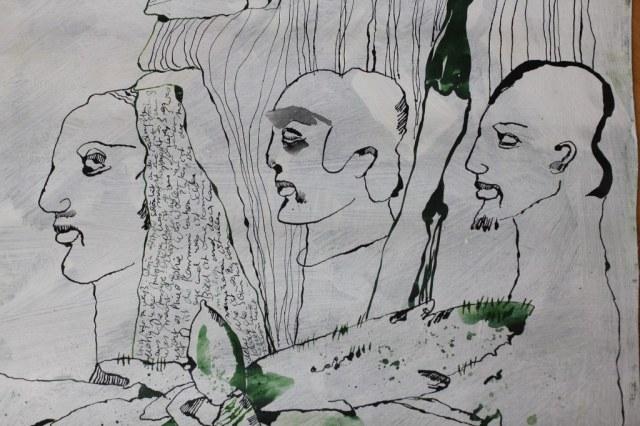 Kommunikationslos (c) Ausschnitt Zeichnung von Susanne Haun