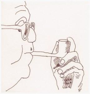Max Frisch (c) Zeichnung von Susanne Haun 5