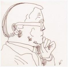 Max Frisch (c) Zeichnung von Susanne Haun