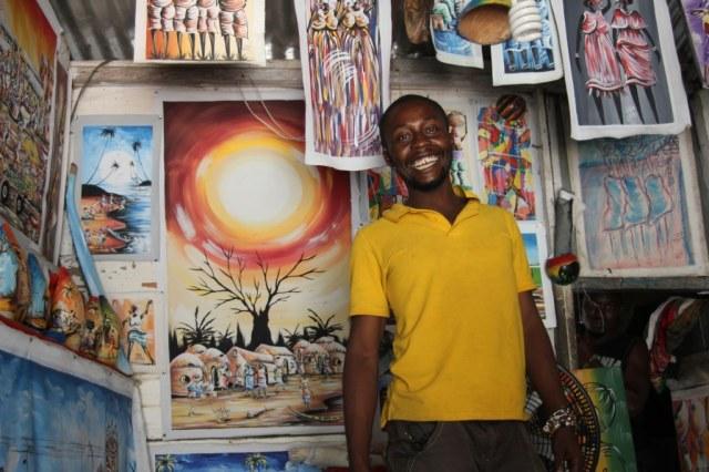 Dennis,ein Künstler aus Cape Coast (c) Foto von Joyce-Ann Syhre