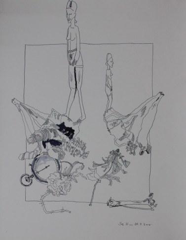 Vergänglichkeit (c) Zeichnung von Susanne Haun
