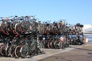 Fahrräder am Hauptbahnhof Amsterdam (c) Foto von Susanne Haun