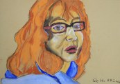 Ich - Pastell - 30 x 40 cm (c) Zeichnung von Susanne Haun