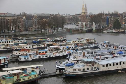 Ausblick vom Science Center NEMO Amsterdam (c) Foto von Susanne Haun