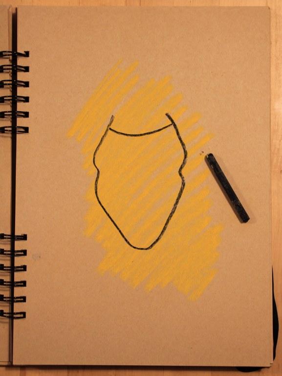 2. Schritt - Pastell Portrait (c) Zeichnung von Susanne Haun