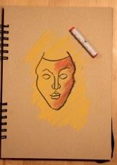 4. Schritt - Pastell Portrait (c) Zeichnung von Susanne Haun