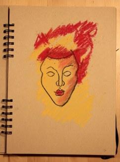 5. Schritt - Pastell Portrait (c) Zeichnung von Susanne Haun