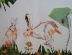 Sehgewohnheiten der Kleinsten – Der Feldhase - Entstehung (c) Collage von Susanne Haun