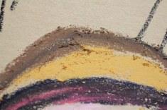 Entstehung des Ich - Pastell - Pigmente auf der Zeichnung - 30 x 40 cm (c) Zeichnung von Susanne Haun