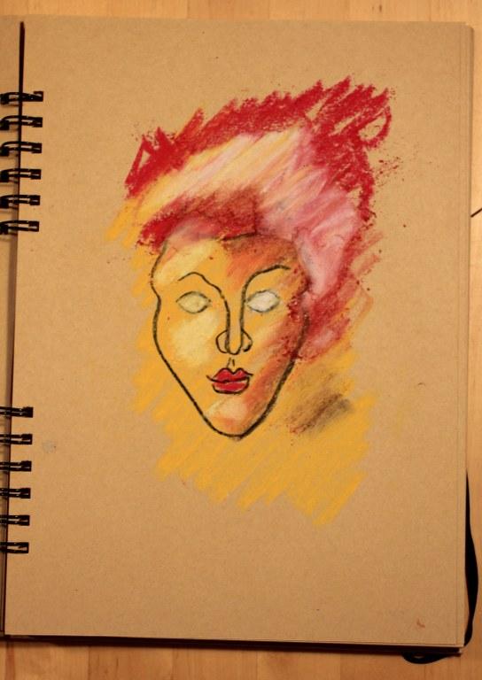 6. Schritt - Pastell Portrait (c) Zeichnung von Susanne Haun
