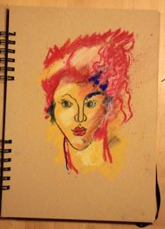 7. Schritt - Pastell Portrait (c) Zeichnung von Susanne Haun