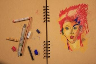 9. Schritt - Pastell Portrait (c) Zeichnung von Susanne Haun