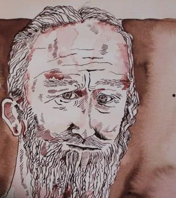 Am Gardasee - 33 x 30 cm (c) Zeichnung von Susanne Haun