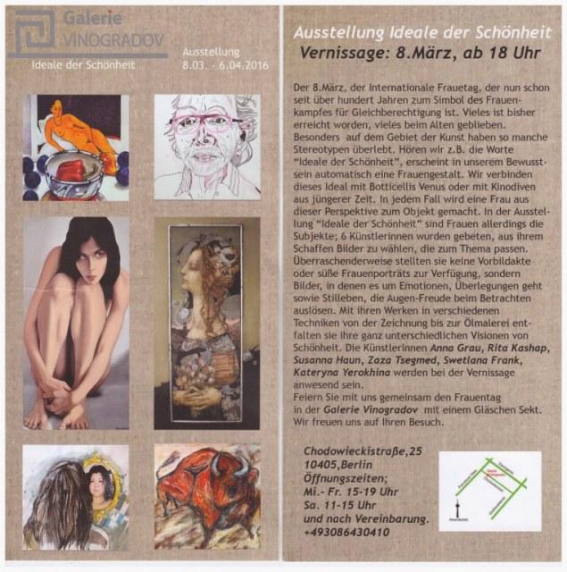 Einladung Ideale der Schönheit Galerie Vinogradov