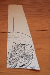 Fragment einer Blume (c) Zeichnung von Susanne Haun