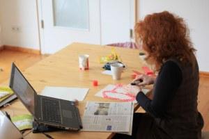 Susanne Haun beim Arbeiten (c) Foto von M.Fanke