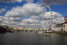 Eye London von der North Bank aus gesehen (c) Foto von Susanne Haun