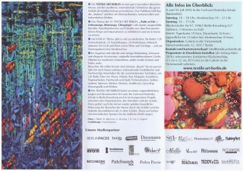12. Textile Art Berlin - Flyer Innenseite