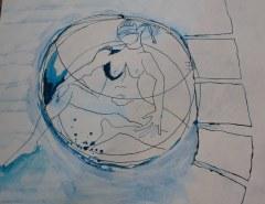 Perspektivwechsel - Ausschnitt aus Dantes Barke des Vergessens (c) Zeichnung von Susanne Haun