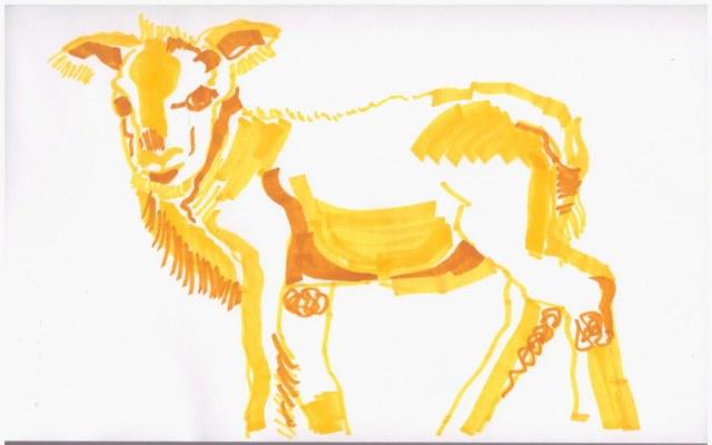 3. Schritt - Entstehung eines Lamm (c) Zeichnung von Susanne Haun