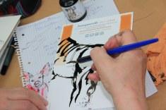 Impressionen vom Workshop Tiere mit Tusche zeichnen (c) Foto von Susanne Haun