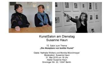 Salon Einladung Gast Nathalie Wolters und Monika Münchmeyer