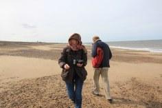 Am Strand angekommen (c) Foto von Susanne Haun