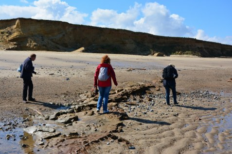Schätze suchen am Strand von Happisburgh (c) Foto von M.Fanke