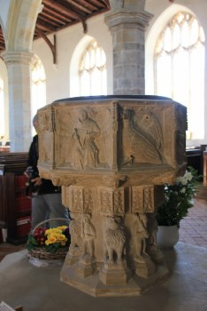 Taufbecken Happisburgh Church (c) Foto von Susanne Haun