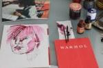 Entstehung von meiner Sicht auf Andy Warhol (c) Foto von Susanne Haun