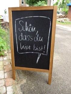 Ich mag die freundliche Begrüssung in der Remise Steglitz (c) Foto von Susanne Haun