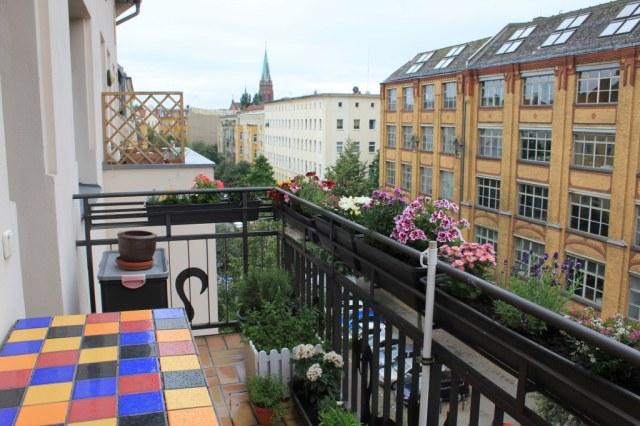 Die Französische Geranie Auf Meinem Balkon Zeichnung Von Susanne