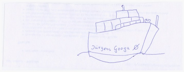 1 Skizze Jürgens Boot Googa (c) Susanne Haun