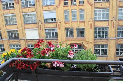 Mein Balkon im 4. Stock in Berlin Wedding mit Blick auf den Osram Höfen (c) Foto von Susanne Haun