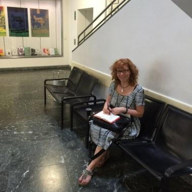 Susanne Haun im Kulturforum (c) Foto von Cristina Wiedebusch