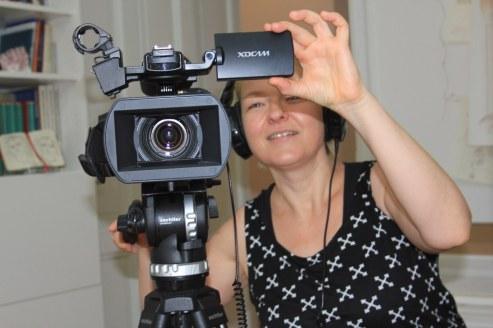Dokumentarin AugenZeugeKunst Anna-Maria Weber (c) Foto von Susanne Haun
