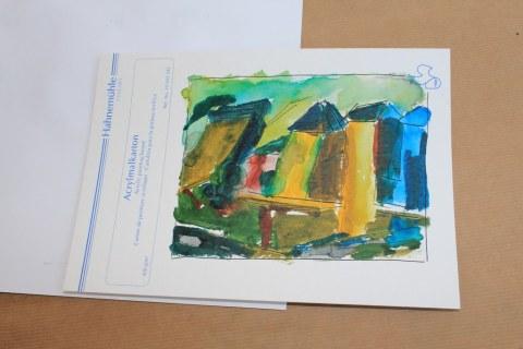 Impressionen vom Workshop Die Farbe in der Zeichnung bei Boesner Berlin (c) Foto von Susanne Haun