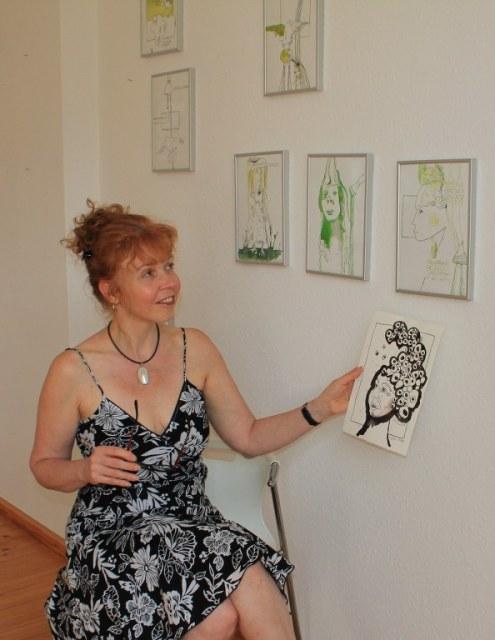 Künstlerin Susanne Haun (c) Foto von Cristina Wiedebusch
